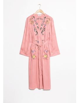 Embroidered Kaftan Robe by & Other Stories