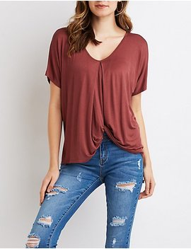 Twist Front High Low Top by Charlotte Russe