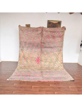 Pastel Pink Talssint Vintage Rug, Beni Ourain Rug, Berber Genuine Rug, Moroccan Wool Rug, Soft Berber Rug, 6.6x10 Talssint Antique Area Rug. by Etsy