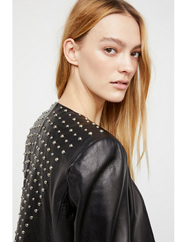 Studded Leather Belle Blazer by Free People