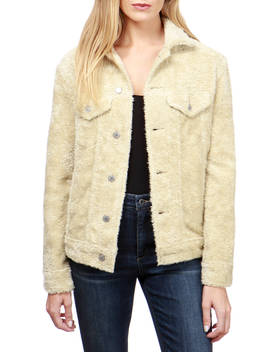 Boyfriend Teddy Trucker Jacket by Lucky Brand