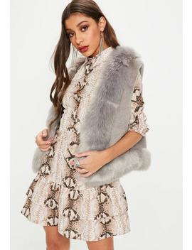 Gray Super Soft Faux Fur Vest by Missguided