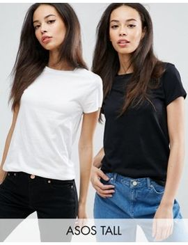 Asos Tall The Ultimate Crew Neck T Shirt 2 Pack Save 15 Percents by Asos Tall