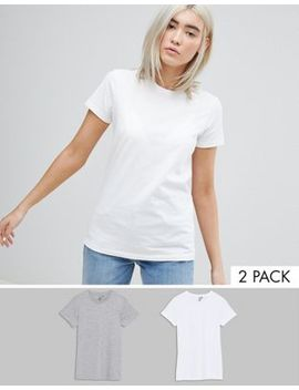 Asos Ultimate T Shirt With Crew Neck 2 Pack Save 15 Percents by Asos Collection