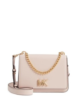 Large Mott Chain Swag Leather Shoulder Bag by Michael Kors