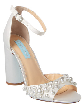 Betsey Johnson Pearl Satin Sandal by Betsey Johnson