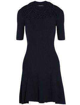Cutout Ribbed Knit Mini Dress by Cushnie Et Ochs