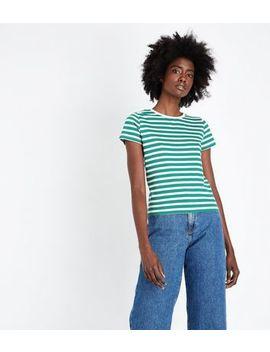 Green Multi Stripe T Shirt by New Look