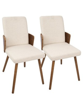 Carmella Mid Century Modern Dining Chair (Set Of 2)   Lumisource by Lumi Source