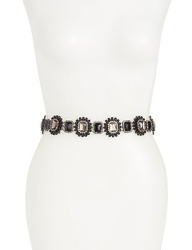 Faceted Crystal Stretch Belt by Nordstrom