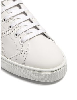 Albert Low Top Leather Trainers by Burberry