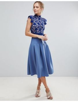 Asos Heavy Lace High Neck Prom Dress by Asos Collection