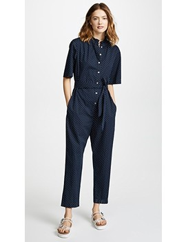 Short Sleeve Dahlia Dot Jumpsuit by La Vie Rebecca Taylor