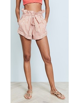 Isla Striped Shorts by For Love & Lemons
