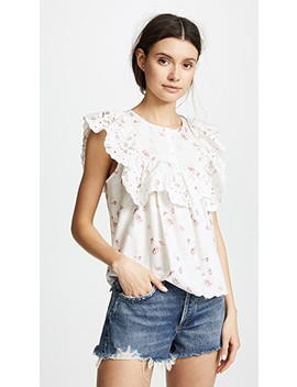 Eyelet Bib Blouse by Sea