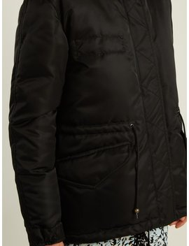 Mongolian Fur Lined Padded Field Jacket by Mr & Mrs Italy