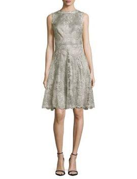 Lace Fit & Flare Dress by Tadashi Shoji