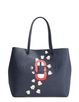 Popcorn Logo Scream Leather Tote by Marc Jacobs