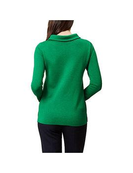 Hobbs Round Neck Anastasia Sweatshirt, Apple Green by Hobbs