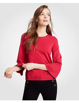 Ponte Bell Sleeve Top by Ann Taylor