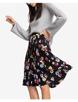 Petite Floral Pleated Full Skirt by Ann Taylor