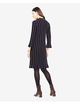 Petite Stitch Striped Sweater Dress by Ann Taylor