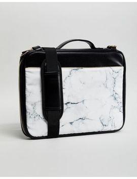 Typo Marble Print Laptop Bag by Typo