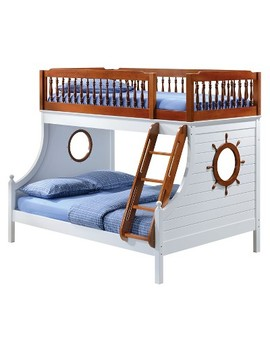 Farah Kids Bunk Bed   Oak And White(Twin)   Acme by Acme