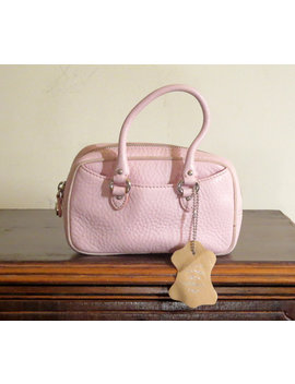 Cole Haan Pink Leather  Mini Wristlet Bag  Very Nice by Etsy