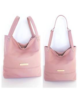 Genuine Leather Handbag Shoulder Bag Purse, Blush Pink Color by Etsy