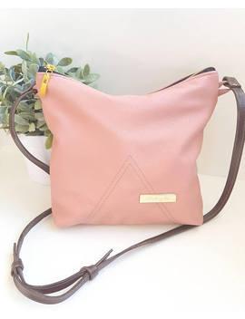 Pink Leather Adjustable Shoulder Bag Purse Handbag by Etsy