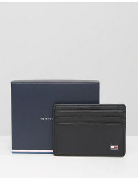 Tommy Hilfiger Eton Leather Cardholder In Black by Tommy Hilfiger