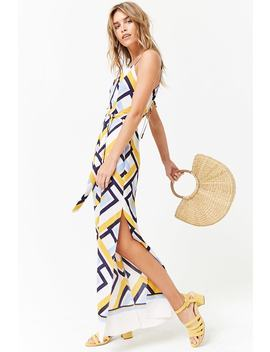 Abstract Chevron Print Cami Jumpsuit by Forever 21