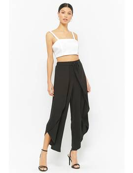Tulip Hem Flare Pants by Forever 21