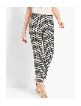 Jacquard Ankle Pant   Butterfly by Talbots