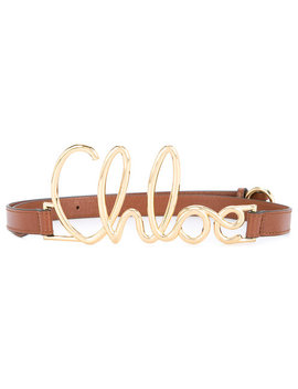 Front Logo Embellished Belt by Chloé
