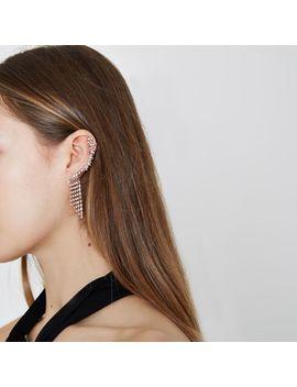 Rose Gold Tone Diamante Ear Cuff by River Island