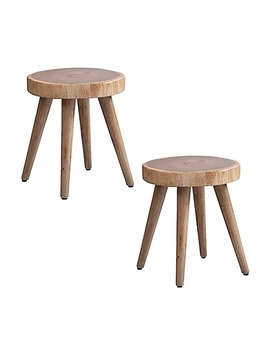 Ink+Ivy® Arcadia Wood Stools In Natural (Set Of 2) by Bed Bath And Beyond