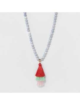 Sugarfix By Bauble Bar Mixed Media Pendant Necklace With Tassels by Sugar Fix By Bauble Bar