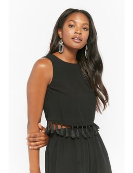 Tassel Trim Top by Forever 21