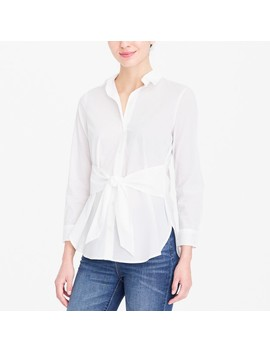 Tie Waist Button Down Shirt by J.Crew