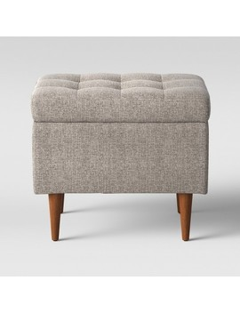 """Lemoor Mid Century 22"""" Ottoman With Storage   Linen   Project 62™ by Shop This Collection"""