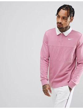 N Nike Sb Long Sleeve Polo Shirt In Pink 885847 678 by Nike Skateboarding