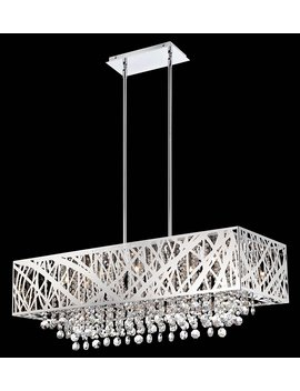 Lite Source Benedetta Pendant, Chrome, 36 X 58.5 by Lite Source