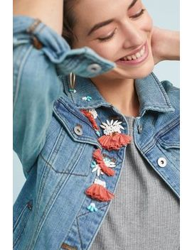 Pilcro Embellished Denim Jacket by Pilcro And The Letterpress