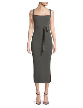 Sleeveless Midi Dress W/ Cross Back by Theory