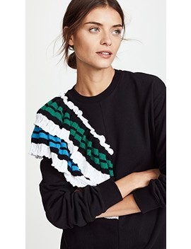 Sweatshirt With Crochet Detail by Msgm