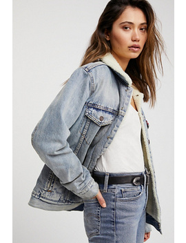 Sherpa Lined Trucker Jacket by Free People