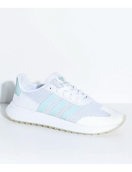 Adidas Flashback White & Tactile Green Shoes by Adidas