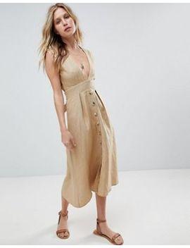Faithfull Button Front Midi Dress by Faithfull